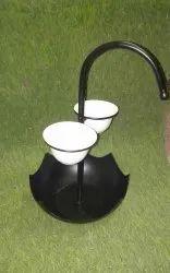 Black Umbrella Iron Dish, Packaging Type: Box, Size: 11.5