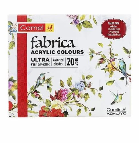 Camlin fabrica acrylic colour set