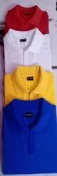Blended Cotton Half KNITMAX CORPORATE COLLAR TSHIRTS, Size: Freesize - L