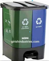Twin Bin Dry And Wet Waste Dustbin
