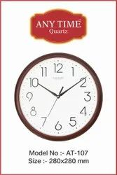 Wooden Color Plastic Promotional Wall Clocks, Size: 11 Inches