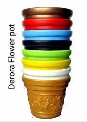 Multicolor Plastic Decora Flower Pot