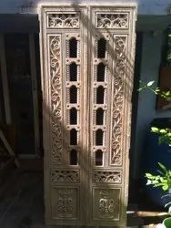 Brown Wooden Pooja room door, For Home