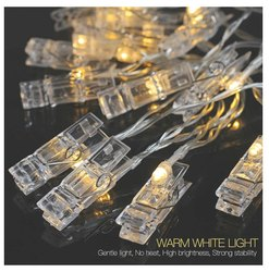 Warm White Plastic Photo Clip LED Lights, For Decoration