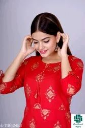 Casual Wear Anarkali Adrika Attractive Kurtis, Wash Care: Handwash