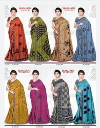 Full Lace Border  Printed Saree