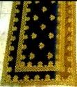 Party Wear Cpallu Embroidered Stone Work C Pallu Saree, With Blouse Piece, 5.5 M (separate Blouse Piece)