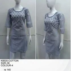 Fancy XL Cotton Kurtis, Wash Care: Handwash