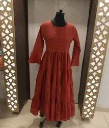 Ladies Long Cotton Dress