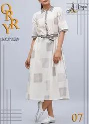 Indo Western Plain One Piece Dress or Gown