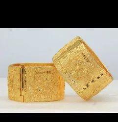 Wedding Golden Gold Plated Kada