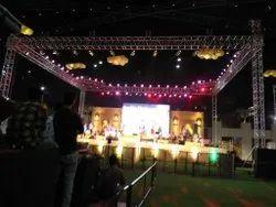 新技术白色舞台灯桁架在租金,在潘印度,笔印度