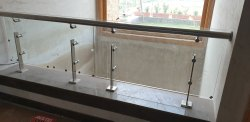 Silver Stainless Steel Balcony Railing, Mounting Type: Floor, Material Grade: SS304