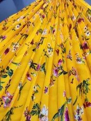 Polyester Electric Machine Crepe Pleated Fabric ( Pleating ), For Garments