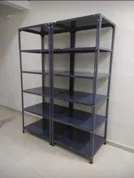 Gray Mild Steel Slotted Angle Storage Rack, Storage Capacity: 100 Kg