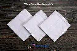 White Satin Men Handkerchief