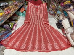 Nandys 13 Cotton Anarkali Chikankari Suit Materials