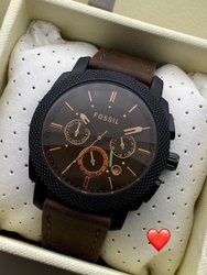 Fossil leather belt watch