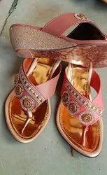 Rexin Duch Heel Ladies Footwear, Size: 7-11
