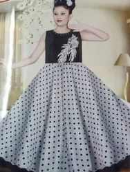 Umbrella Frock T Black & White Girls Frocks