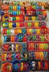 Party Wear Silk thread kundan bangles