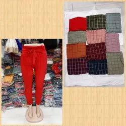 Heena brand Polyester Girls toko Pant , Ladies Toko Knot Pant , Woman Chex Pant, Waist Size: Xl 28 to 34 waist