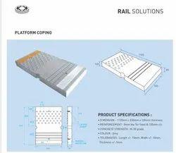 Rcc Railway Platform Coping, Thickness: 100mm