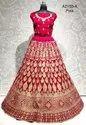 Designer Heavy Embroidery Work Velvet Bridal Lehenga Choli