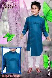 Cotton Boys Fancy Kurta Pyjama, Size: 1-10