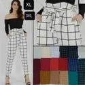 Cotton Strechibal Lamlam Cheex Ruffle Knot Pant, Waist Size: Free Size 28+36