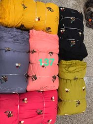 Kimaya Prints Viscose Rayon Embroidery Fabric, For Garment, Packaging Type: Bundle