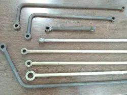 Mild Steel Full Thread Eye Bolt Forging, For Machinery