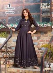 Embroidered Stitch Designer Long Gown