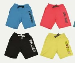 0 To 16 Yrs Multicolor Boy's cotton shorts, Size: 16 to 36