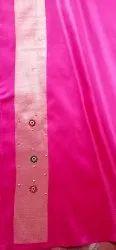 5.5 m (separate blouse piece) Banarasi Silk Handloom Saree, With Blouse Piece