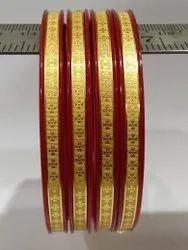 Golden Designer Brass Bangle