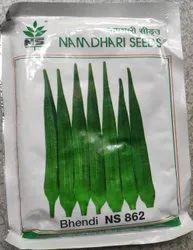 Hybrid Namdhari Lady Finger Seed 862, Packaging Type: 100gm