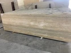 Hone Finish Italy Golden Travertino Marble, Slab, Thickness: 18 Mm