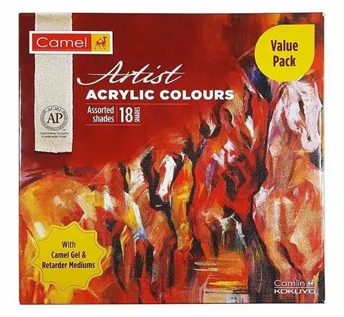 Camel Acrylic Colour Sets 18 and 20ml