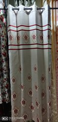 Cotton Eyelet Printed Designer Curtain, For Door, Length: 7 M