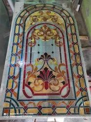 Home use Stain glass, For Decoration, Thickness: 8.mm