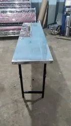 Square Mirror Finish Stainless Steel Foldable Dining Table, For marriage Hall,hotel