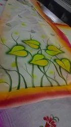 Party Wear Floral Print Cotton printed sarees, 6 m (with blouse piece)