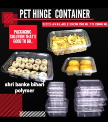 Hinged Plastic Boxes 750ml