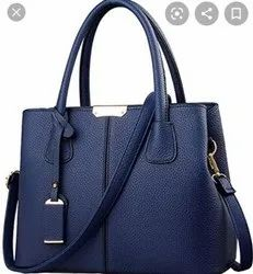 Legal bribe Blue Leather Handbag, For Daily Use, Gender: Women