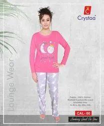 Reyon Ladies Night Suits, T shirt& pants