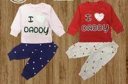 Cotton Unisex Girls Pyjama Sets, Size: 16 To 20