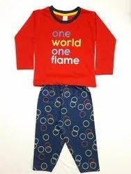 Multicolor Unisex Girl's cotton pyjama sets, Size: 16 To 20