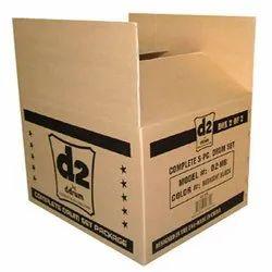 Custom Printed Brown Single Wall 3 Ply Corrugated Packaging Box