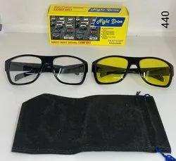 Square White & yellow Night Driving Sunglasses